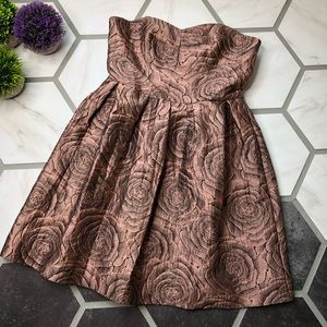 Anthropologie Hutch Candy Rose jacquard dress